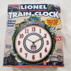 Lionel Train 100th Anniversary Clock w/CoA